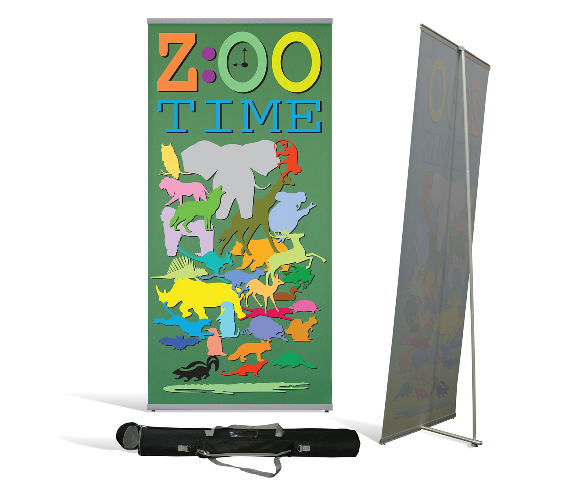 L Banner Stand 3x7 ft 1 1